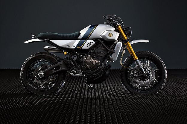 The latest Yamaha Yard Built custom: A retro-futuristic XSR700 from Bunker Custom Cycles.