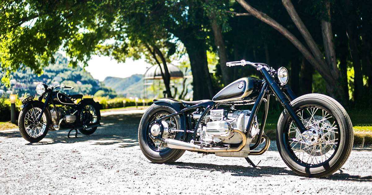 vintage meets custom: bmw remakes the iconic r5   bike exif