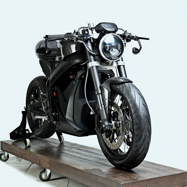 Custom Zero SR electric motorcycle.