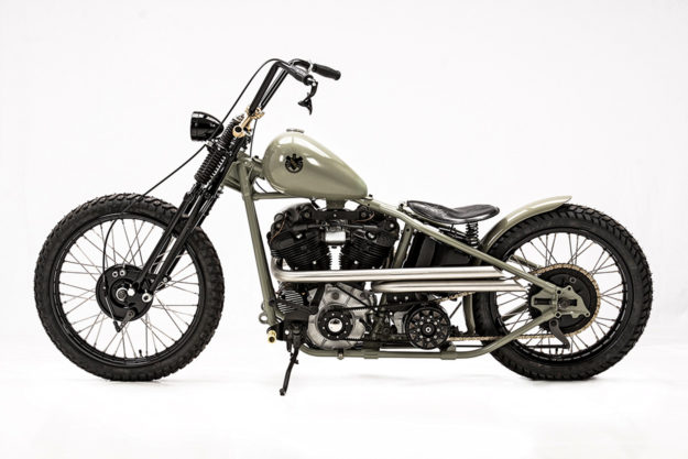 Custom Harley knucklehead by Hamburg-based master builder Ehinger Kraftrad.