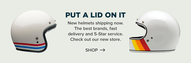 Equipment: New motorcycle helmets in store now.