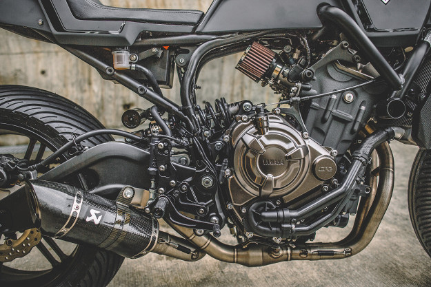 Onyx Blade: A Custom Yamaha MT-07 By Rough Crafts