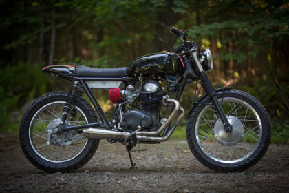 Town and Country: a Honda CB350 Scrambler built in the Catskills