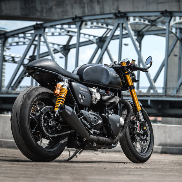 Darkster: K-Speed makes the Triumph Thruxton R look even better.