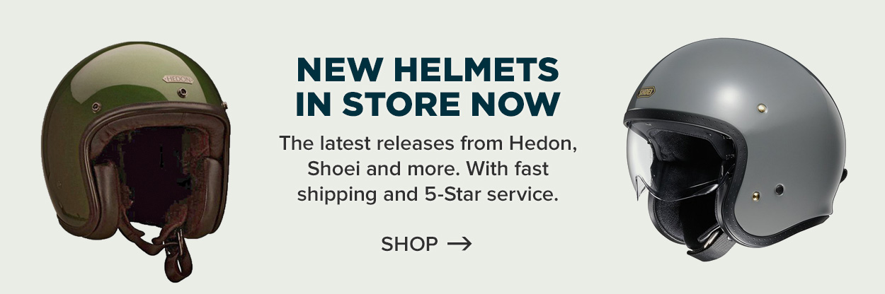 New motorcycle helmets