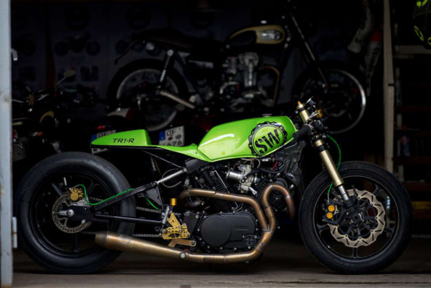 Sultans Of Sprint drag racer by Schlachtwerk Motorcycles.