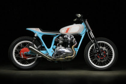 Uwe Kostrewa's colorful Kawasaki W650.