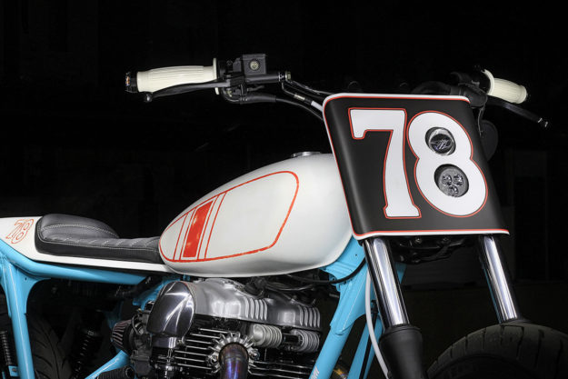 Uwe Kostrewa's Kawasaki W650 tracker is illegal in Germany, but he is happy to pay off the fines.