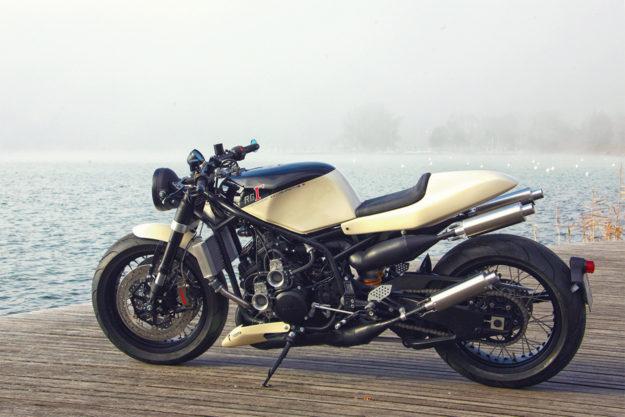 A neo-classic custom Suzuki RG400 from the French workshop Lazareth