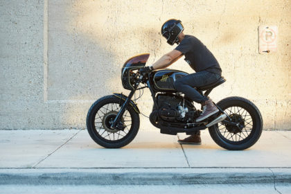 'Take Five': A BMW R100 cafe racer from Federal Moto's new Chicago workshop.