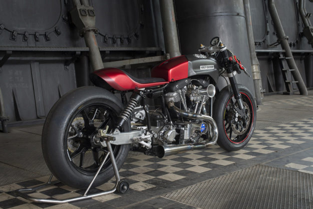 Electra Glide In Red: Tricana's 'Hot Racer' Harley FLH