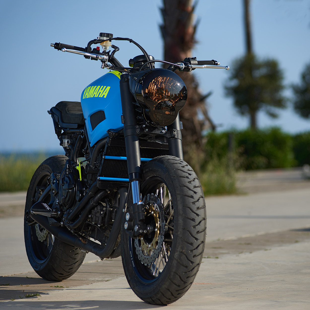 I Really Like This Crazy Style David Has Created Says Yamahas Cristian Barelli The Tough Street Tracker Feel Fits Well With XSR700