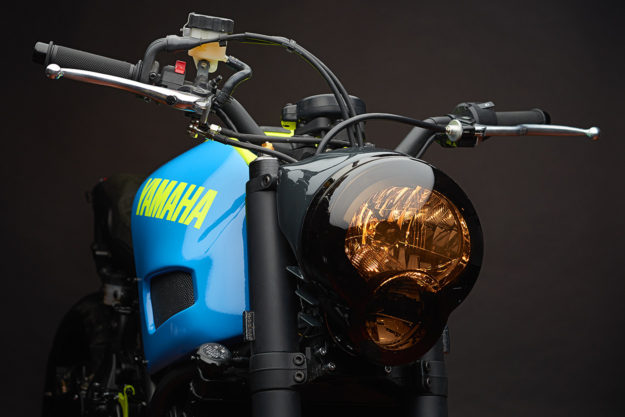 Neon Dream: This custom Yamaha XSR700 is a Retina-Searing Treat.