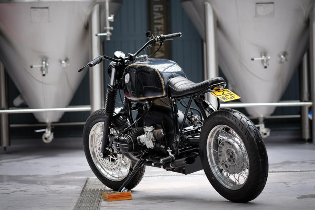 BMW R100R built by Dust Custom Motorcycles for the owner of the Wylam Brewery in Newcastle, England.