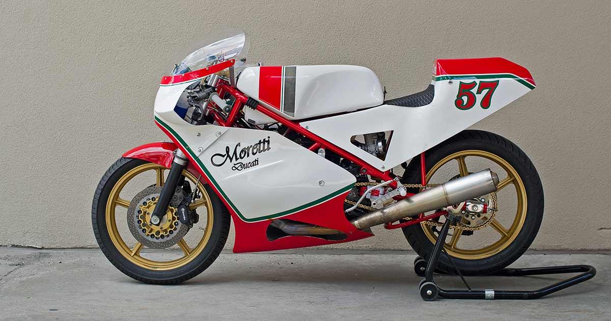 1980s Overload! The Moretti vintage race bike