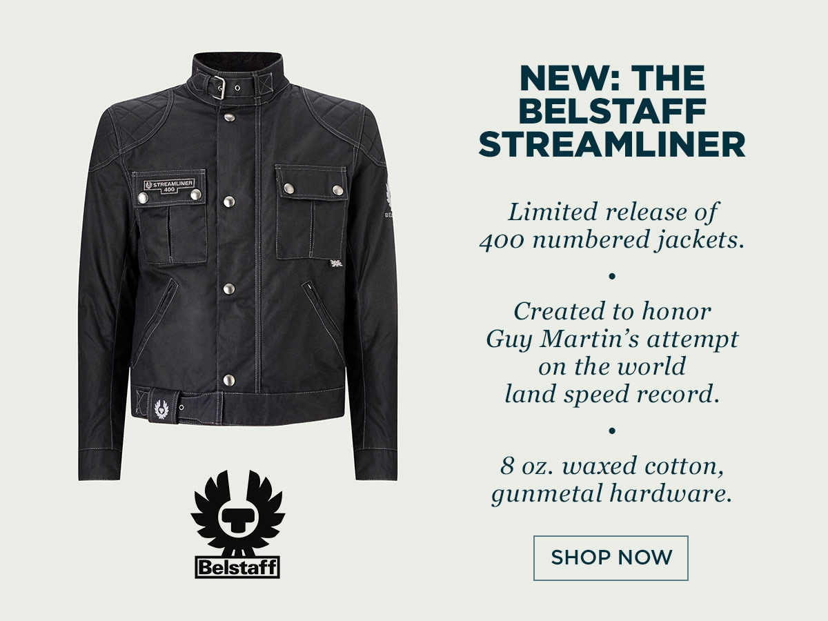 The new Belstaff Streamliner 400 motorcycle jacket