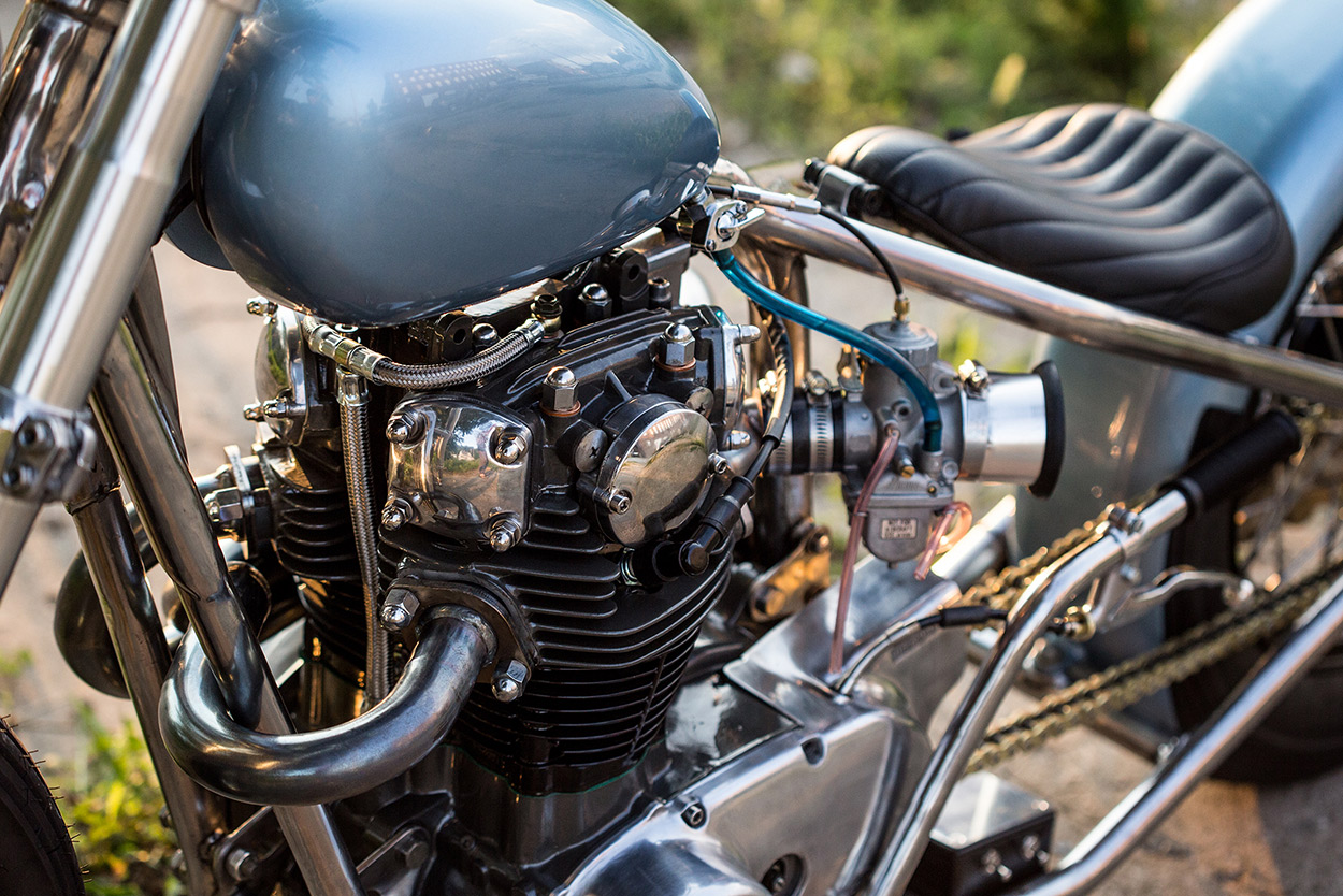 Blue Is The Color: An ice-cool Yamaha XS650 bobber | Bike EXIF
