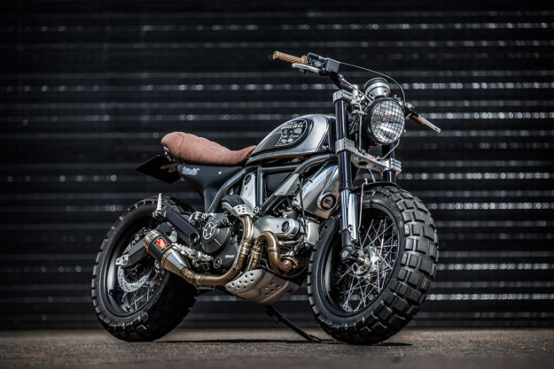 Fat tire motorcycle: A custom Ducati Scrambler from Down & Out Cafe Racers