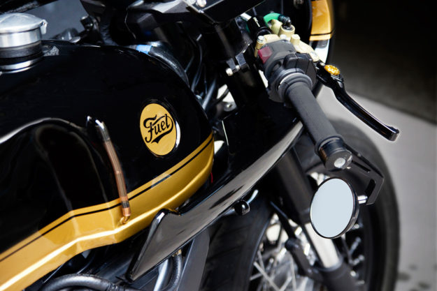 The Ducati Strada 800 cafe racer by Fuel Bespoke Motorcycles