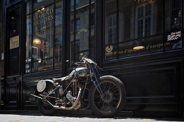 A look behind the scenes at one of France's top motorcycle shops, Legend Motors.