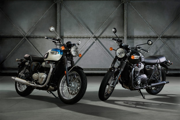 New Triumph T100 Bonneville and T100 Black
