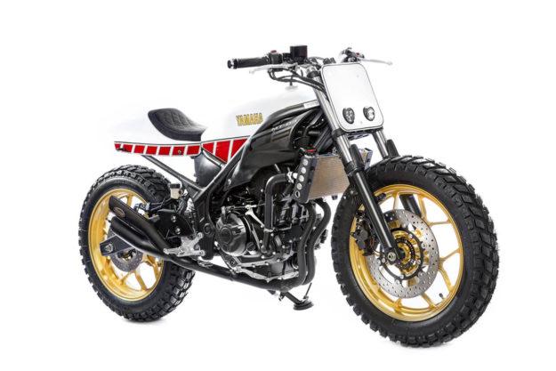 Custom Yamaha MT-03 by Moritz Bree, 12 years old
