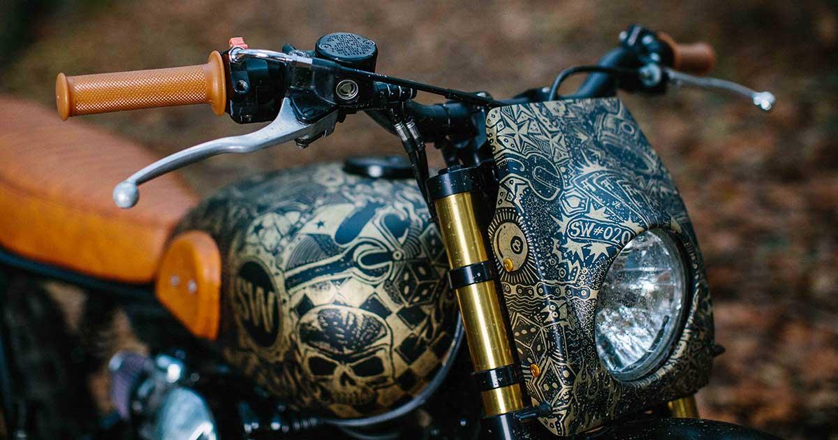 Tattoo You: Schlachtwerk's heavily inked Kawasaki W650