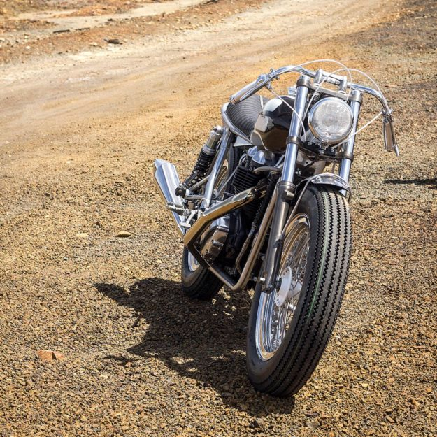 Ton-Up Garage gives a 2006 Triumph Bonneville a vintage hot rod vibe