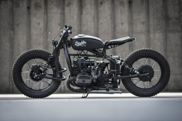 Punk Rock Boxer: A slammed custom Ural by K-Speed