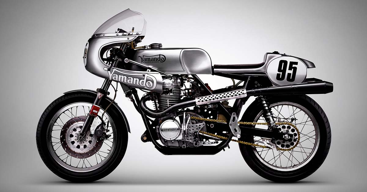The Yamando: A vintage Yamaha racer with a Norton frame