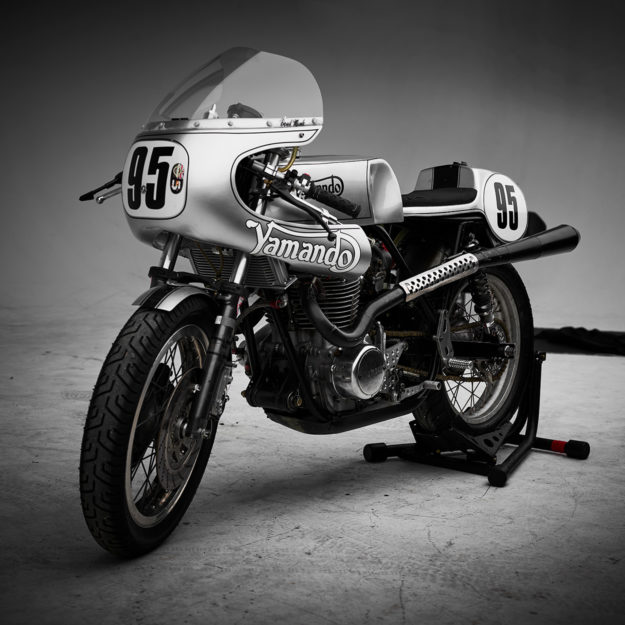 The Yamando: A vintage Yamaha race bike with a Norton frame