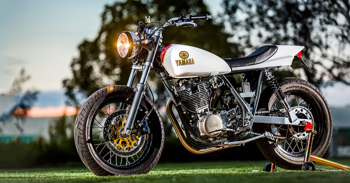 How to build a Yamaha SR500 street tracker, the Mule way