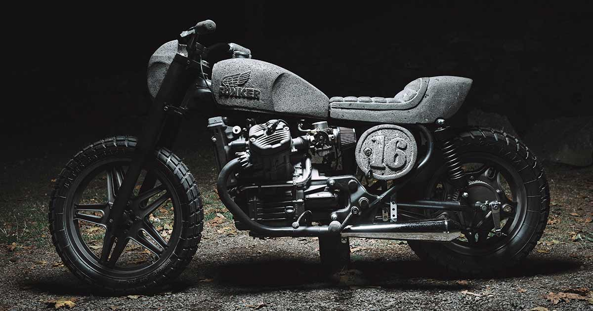 Heavy Hitter: A CX500 with bodywork carved from stone