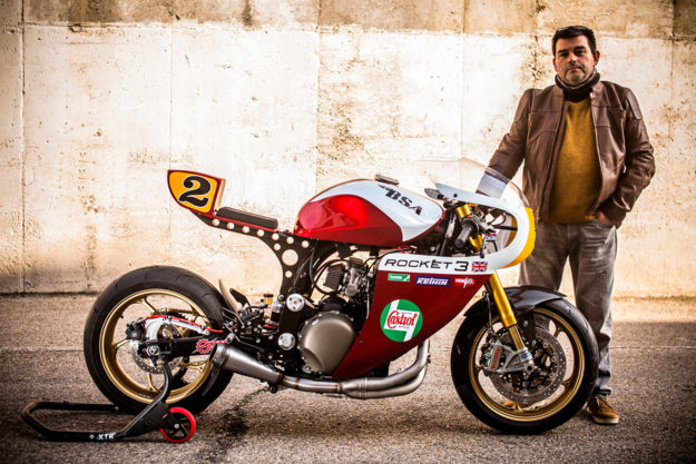 A Triumph Legend TT cafe racer  with an endurance vibe from XTR Pepo