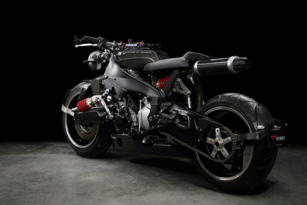 An insane Yamaha YZF-R1 cafe racer by Lazareth.