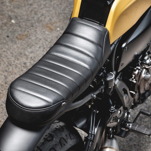Fresh out the Macco Motors workshop in Spanish port city of Málaga—a beautifully revamped Yamaha XSR700.