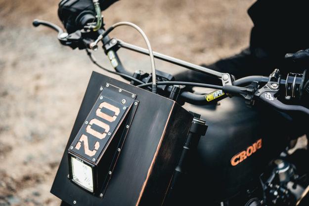 A radical Honda CB450 scrambler by Cafe Racers of Instagram