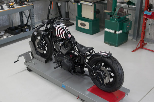 This DP Customs Sportster now terrorizes the streets of Carefree, Arizona