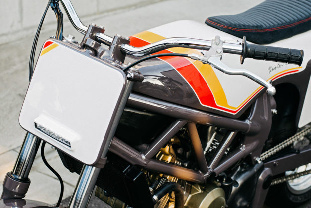 Custom Honda VTR250 with a tracker vibe by Deus Japan