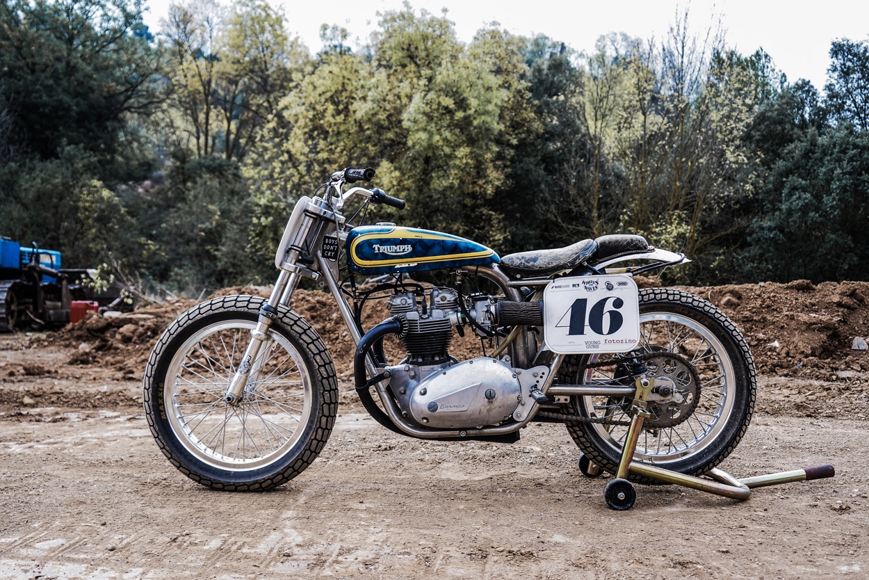 Young Gun Old Metal Reviving Dave Hansens Flat Tracker Bike Exif Wiring Harness For 1971 Triumph Motorcycle Full Size