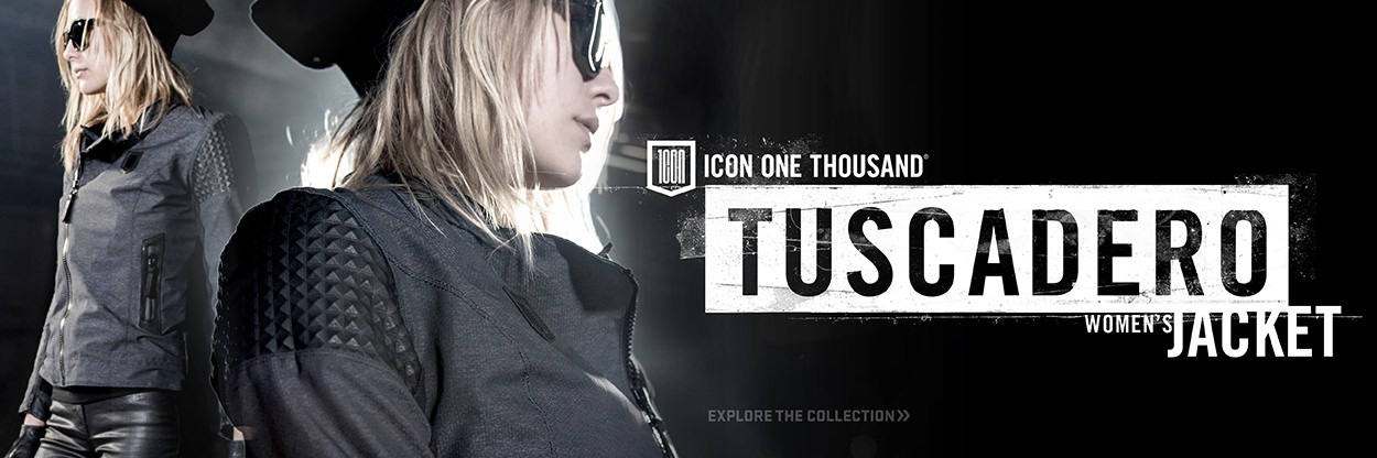 The new ICON Tuscadero jacket