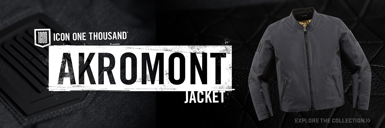 The new ICON 1000 Akromont motorcycle jacket