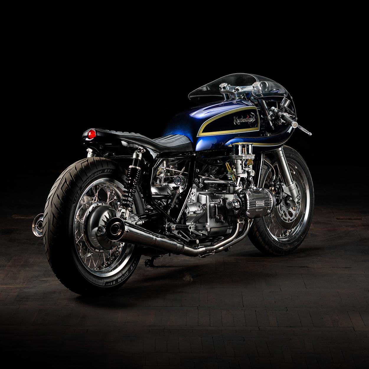 Blueberry Bomber: Krakenhead's mighty custom Gold Wing | Bike EXIF