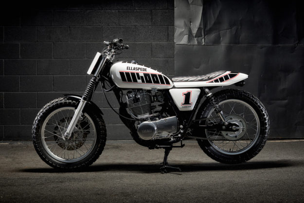 Custom street tracker kits for the Yamaha SR400