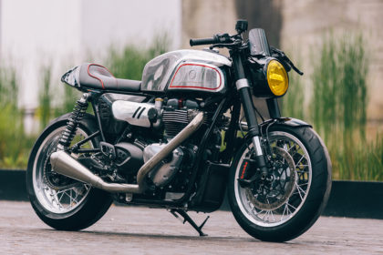 Blacktrack Motors' Manx-inspired Triumph Thruxton R