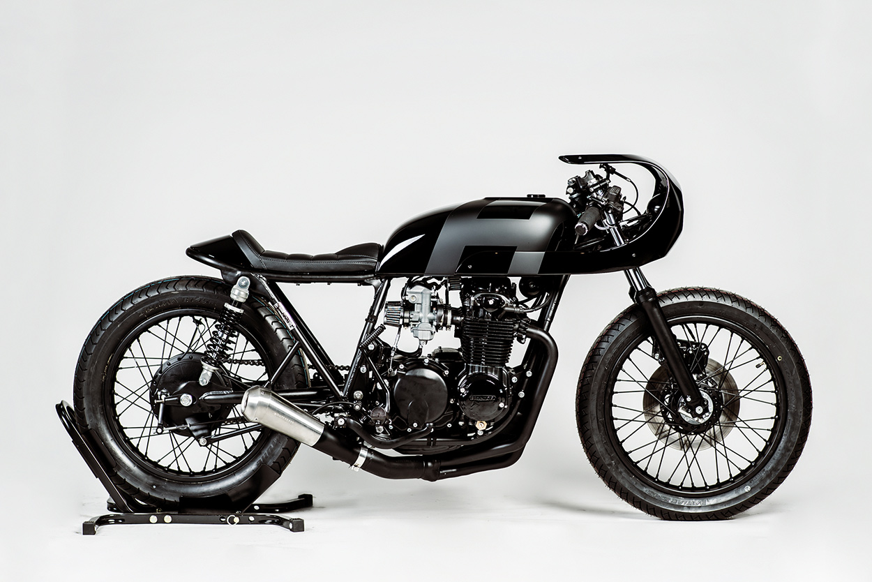 The Real Deal A Stealthy CB550 Cafe Racer From Hookie Co