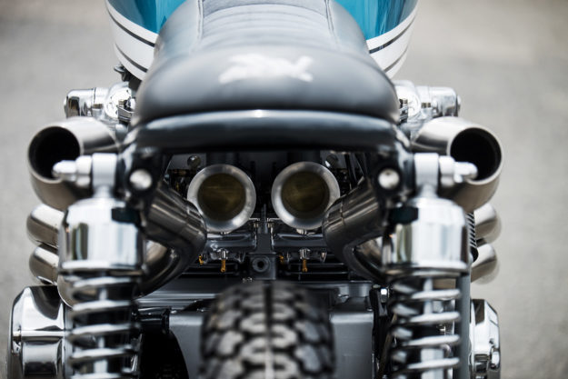 Justin Webster's Honda CB550 street scrambler