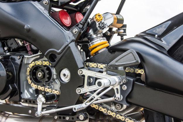 Two stroke Yamaha x Aprilia track day motorcycle