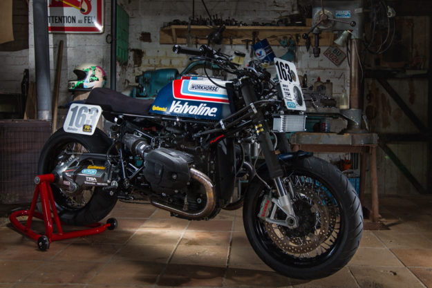Classic Superbike Style: A BMW R nineT with a classic racer vibe from Workhorse Speedshop