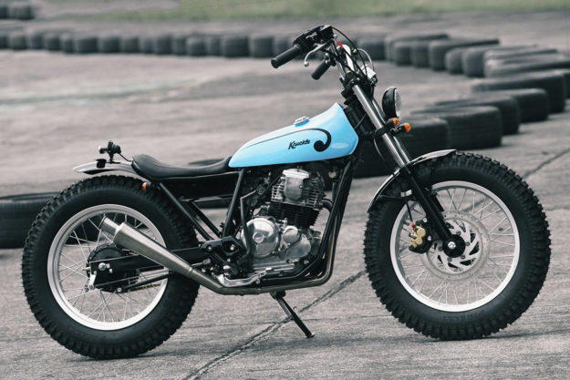 Knuckle Whackjob's Yamaha Scorpio is Part Scrambler, Part Chop